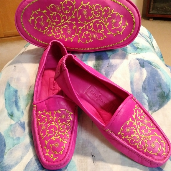 Glove Leather House Slippers W Case